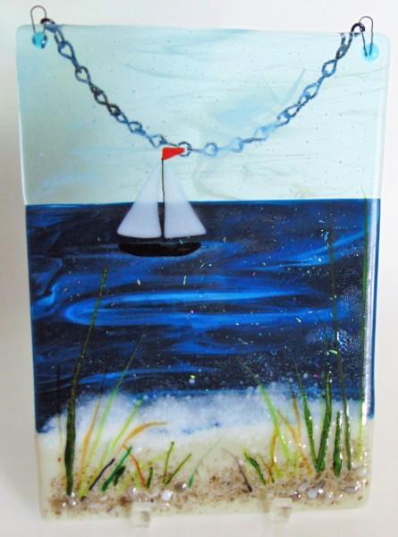 Garden Hanger-Water with Sailboat