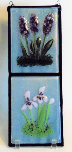 Double Wall Hanger-Lavender, Irises