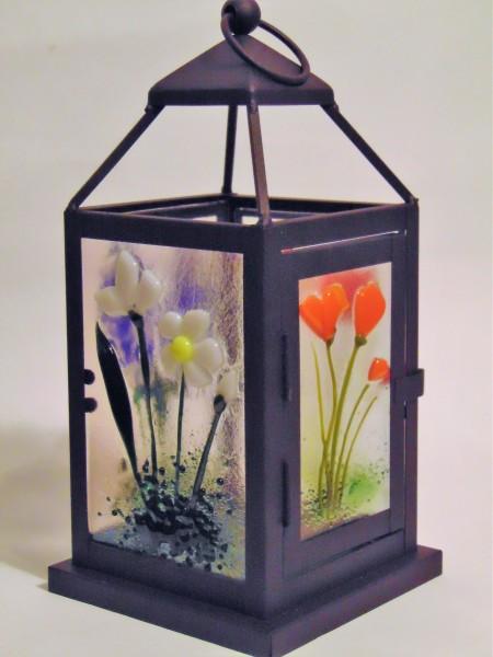 Small Lantern with botanical panels