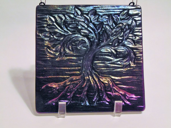 Garden Hanger-Small Tree of Life, Purple Irid