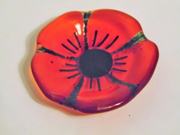 Small flower dish-Red Poppy