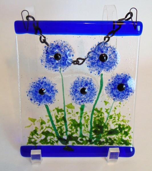 Garden Hanger-Blue Dahlias