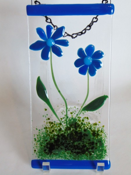 Garden Hanger-Blue Daisies