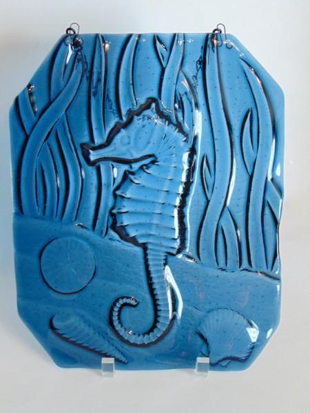 Garden Hanger-Seahorse Embossed Glass