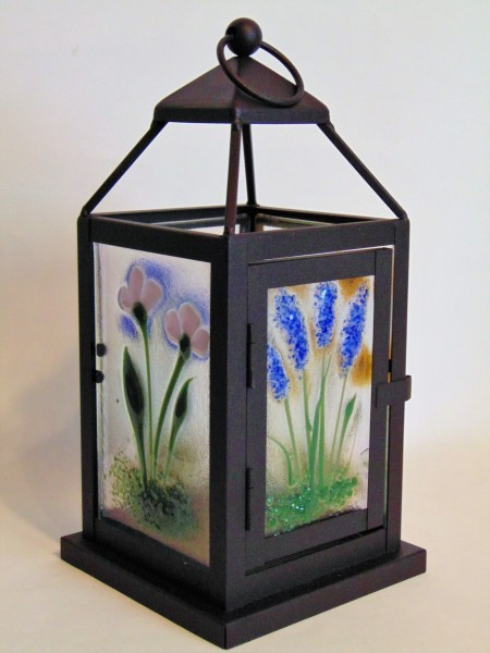 Small Lantern with Botanical Panels