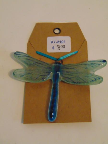 Dragonfly Hanger, Medium--Blues/Greens