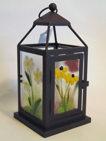 Lantern, Small-with botanical panels