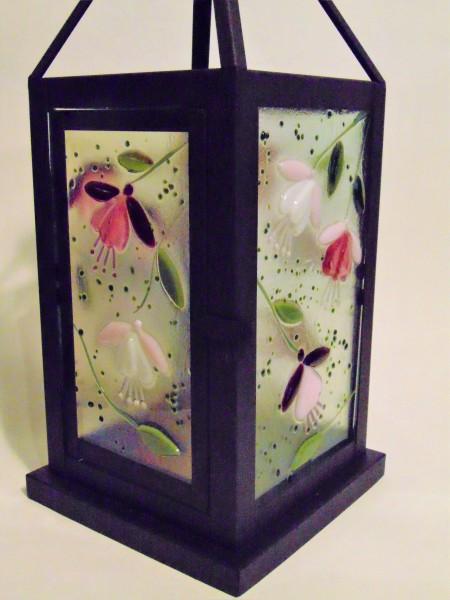 Lantern, Large with Botanical Panels--Fuchsias