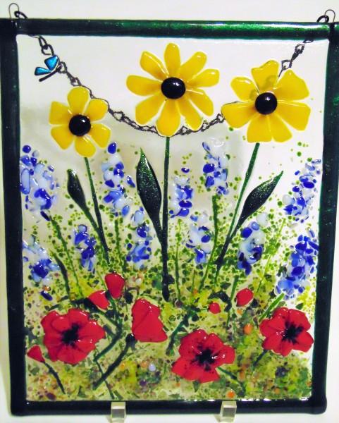 Garden Hanger-Daisies, Delphiniums, Poppies