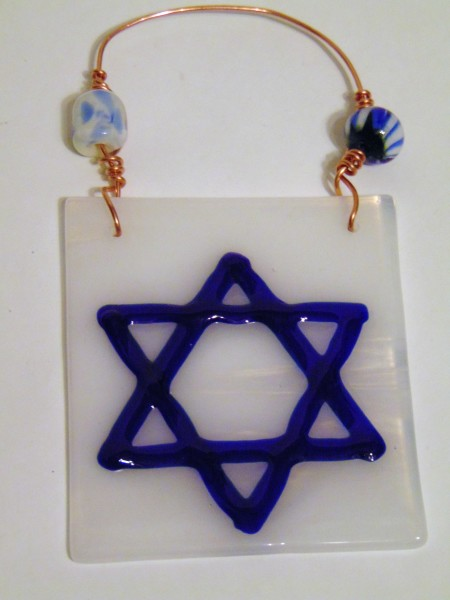 Star of David Ornament-Cobalt Blue