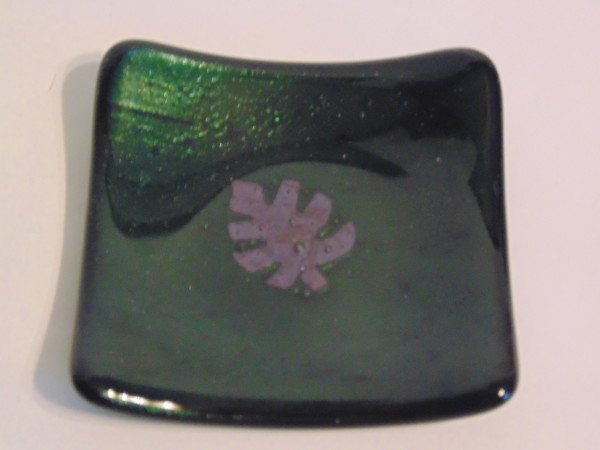 Small sushi-Adventurine green with copper leaf