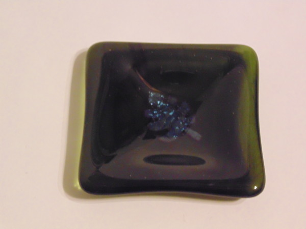 Small dish-Green with copper leaf