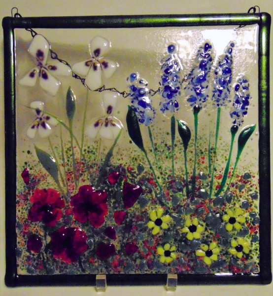 Garden Hanger-Irises, Delphiniums, Poppies, Daisies