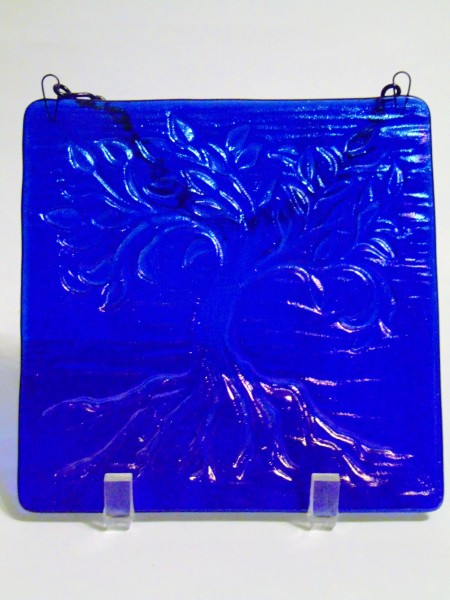 Garden Hanger-Tree of Life, small--Blue Irid