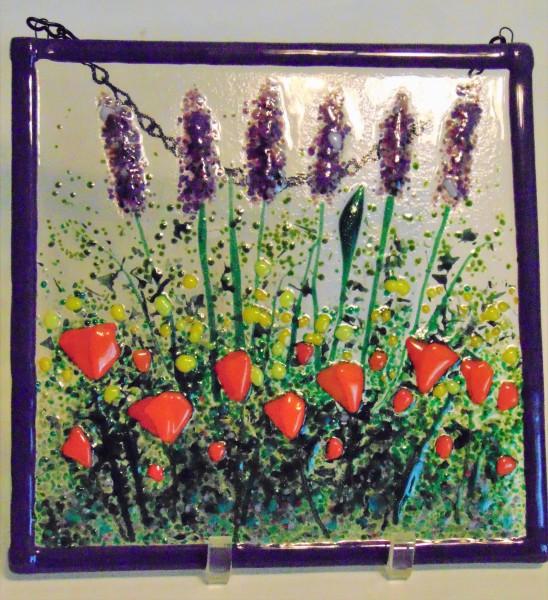 Garden Hanger-Lavender with Orange Poppies