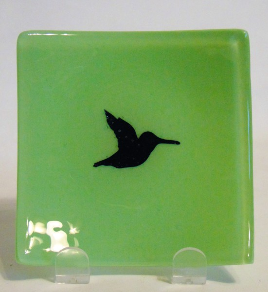 Small Plate-Copper Hummingbird on Mint Green