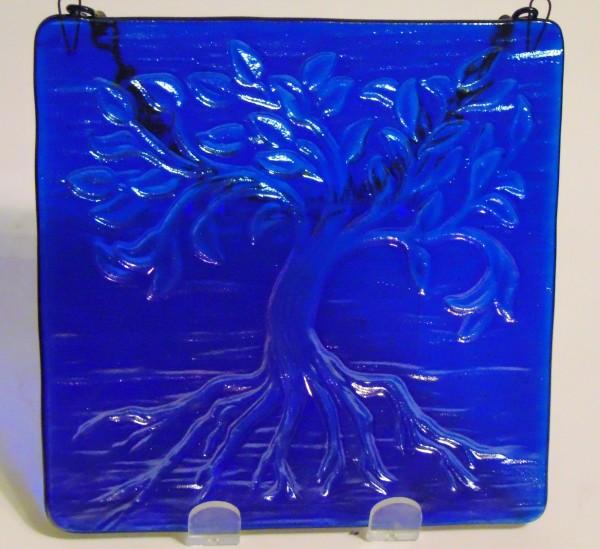 Garden Hanger-Small Tree of Life, Blue Irid