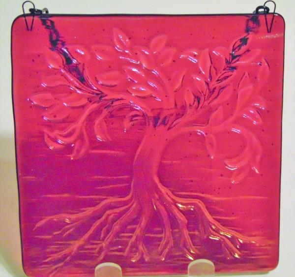 Garden Hanger-Small Tree of Life, Cranberry Irid