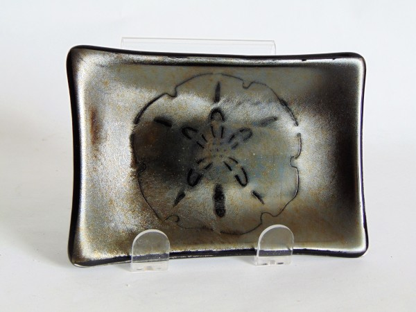 Soap Dish/Spoon Rest-Irid with Sand Dollar