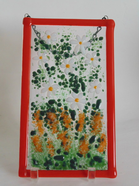 Garden Hanger-Daisies and orange spires