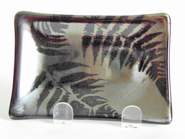Soap Dish/Spoon Rest-Irid with Ferns