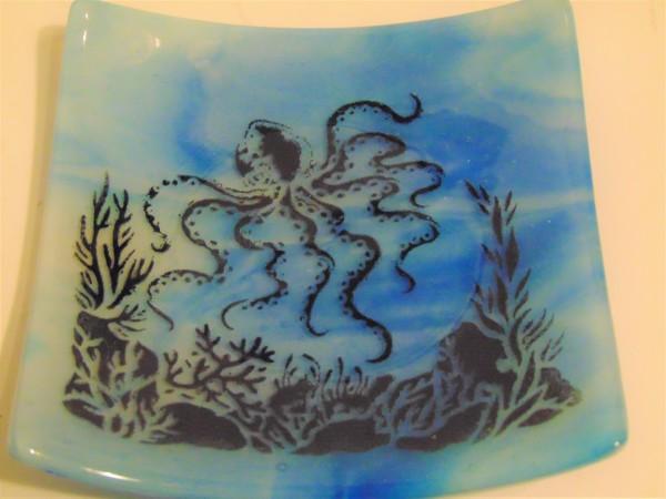 Plate-Undersea Octopus