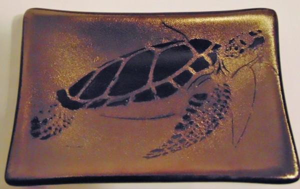 Soap Dish/Spoon Rest-Sea Turtle on Irid