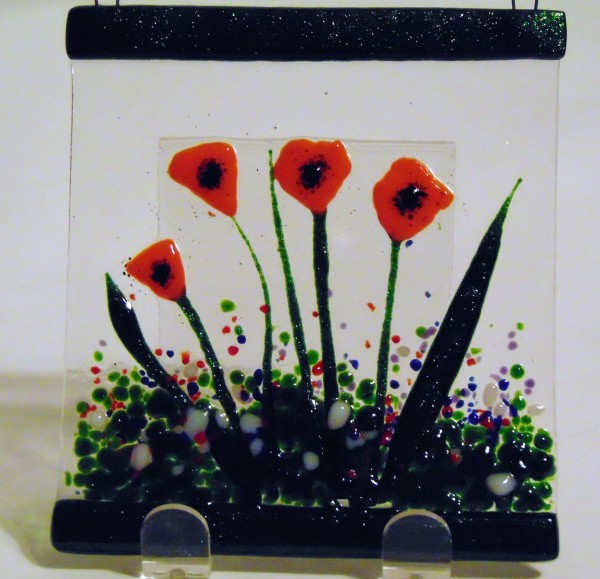 Garden Hanger-Orange Poppies