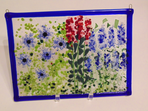 Garden Hanger-Blue and Red Flowers