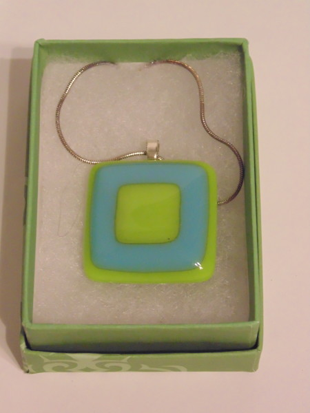 Necklace-Spring Green and Turquoise