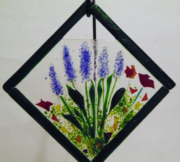 Garden Hanger-Diagonal with Delphiniums/Poppies