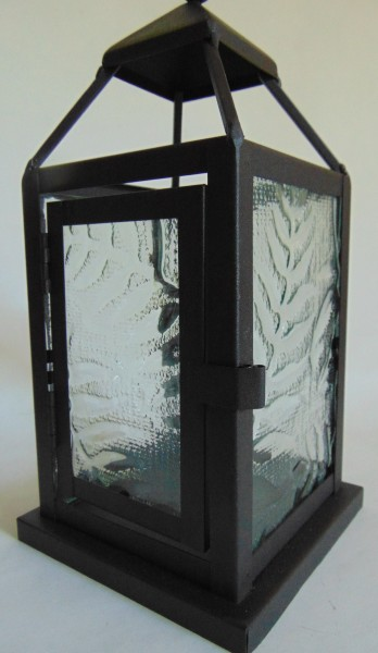 Lantern with impressed fern panels