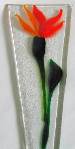 Plant Stake-Orange Flower