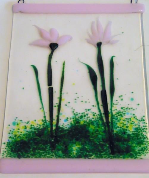 Garden Hanger-Pink Flowers