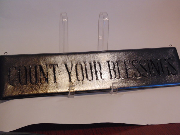 Count Your Blessings Hanging Sign