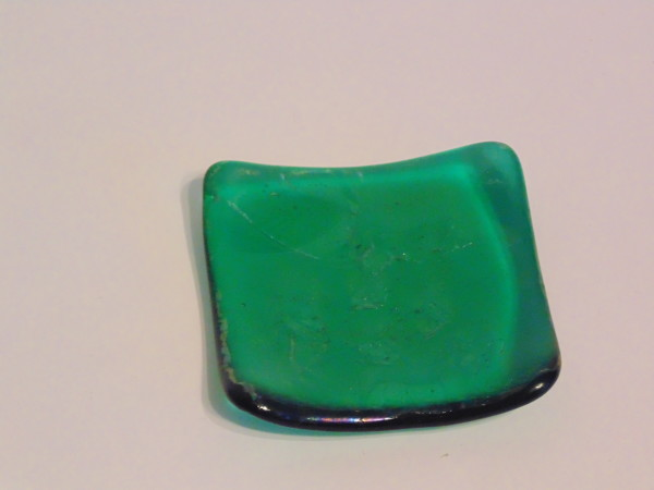 Small dish-Emerald green with irid