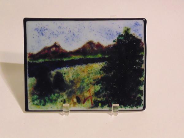 Frit Painting-Mountain scene