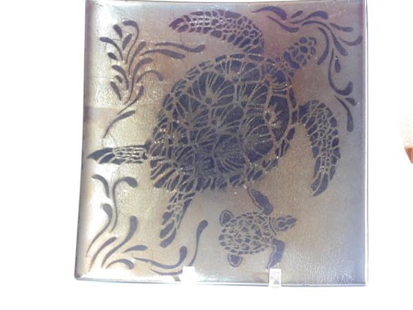Sea Turtle Plate on irid