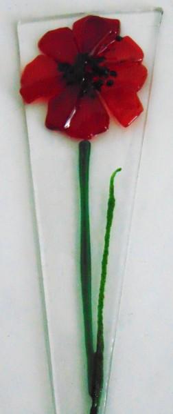 Plant Stake-Shorter, Red Poppy