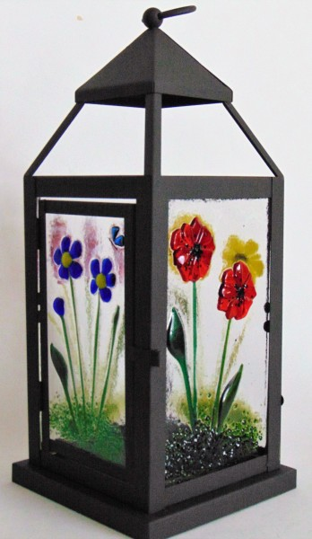 Lantern-Large with Botanical Panels