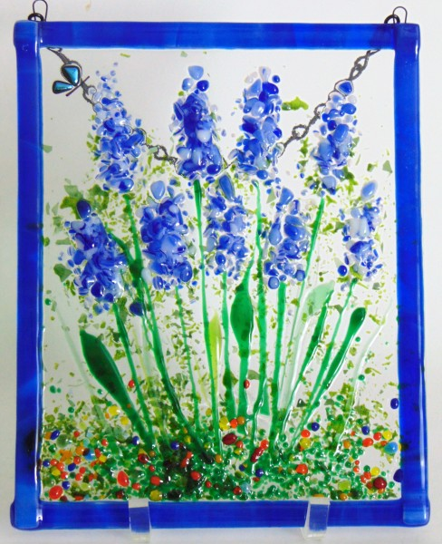 Garden Hanger-Delphiniums with Butterfly