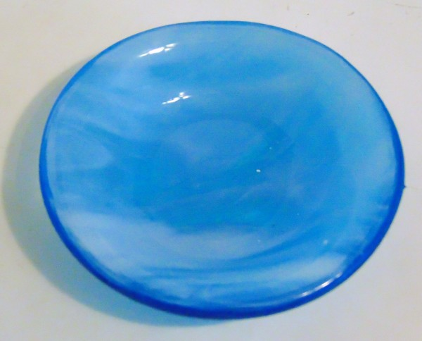 Small Dish-Turquoise with White Streaky