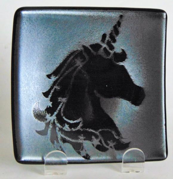 Plate-Unicorn on Silver Irid