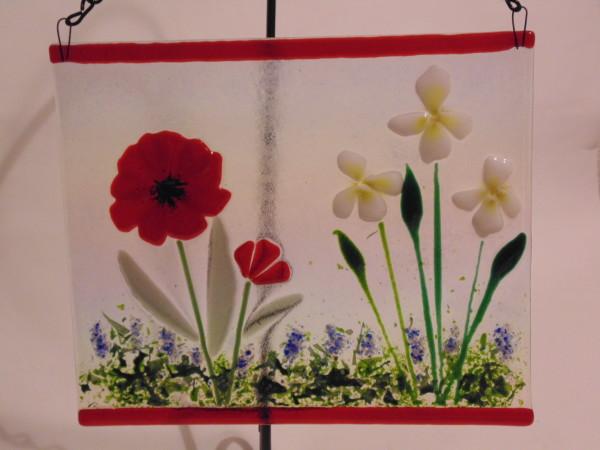 Garden Hanger-Irises & Poppy