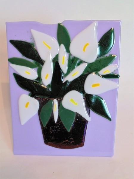 Vase of Flowers-White Arthurium