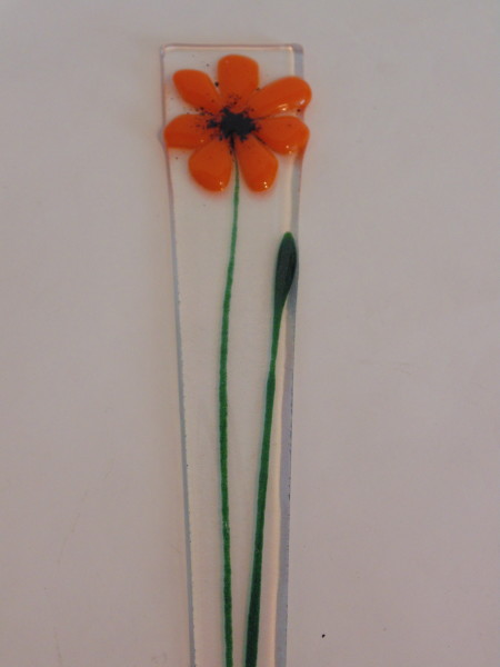 Plant Stake-Orange Daisy