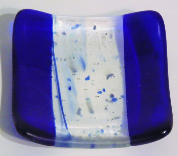 Small dish-Blue with confetti/frit