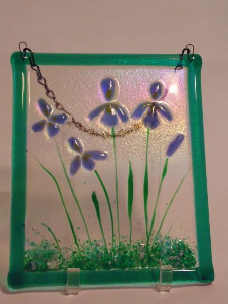 Garden Hanger-Purple Irises