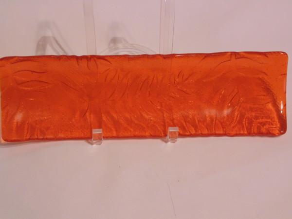 Long Tray-Orange with Fern Imprint