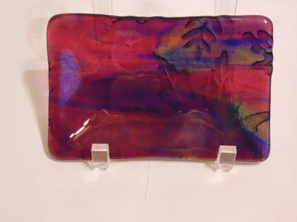 Soap Dish/Spoon Rest-Multi-Colored Leaf Imprint
